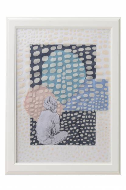 """Картина от интериорен текстил """"Носталгия"""", 30х40 см"""