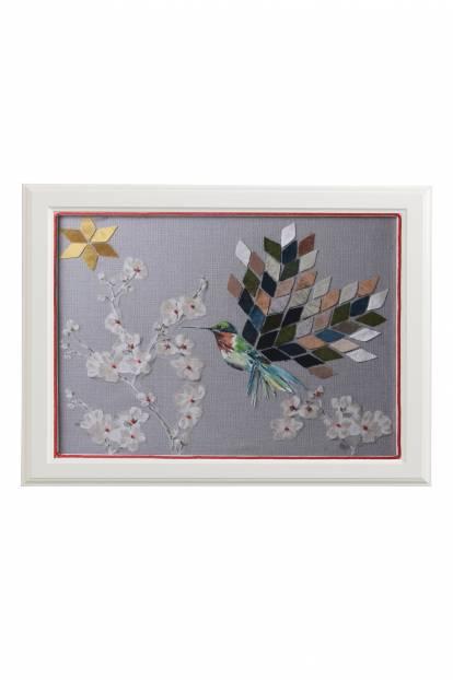 """Картина от интериорен текстил """"Колибри"""", 40х50 см"""