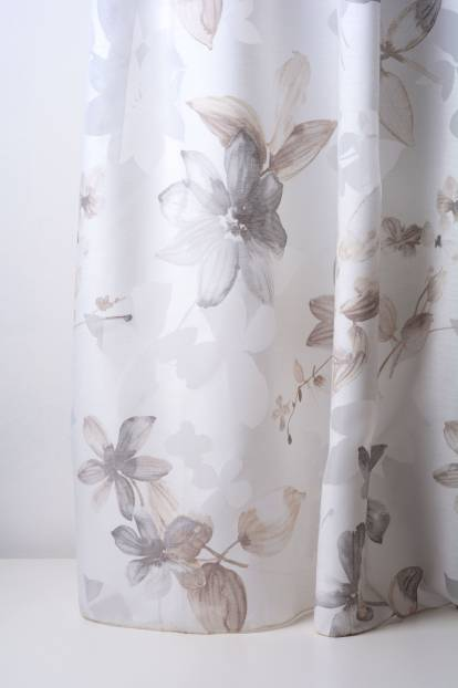 бчла основа със сиви цветя, Zanzibar - Devore Beige 30