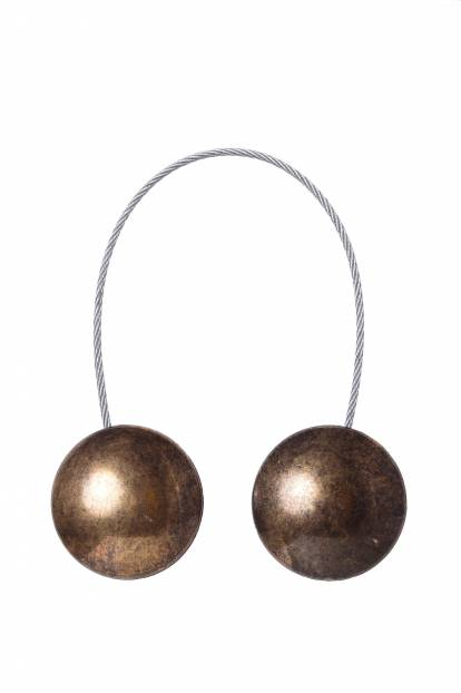 Кръгъл магнит за завеса матирано старо злато