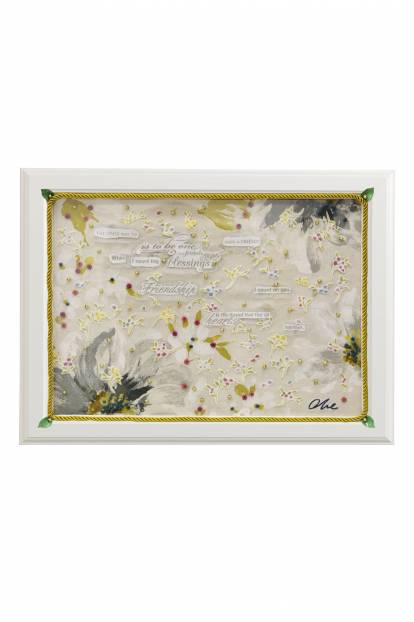 """Картина от интериорен текстил """"Писмо в бутилка"""", 40х50 см"""