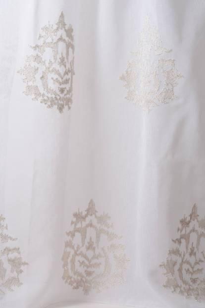 Полупрозрачен воал бродирани орнаменти , 325-Grandezza-C1