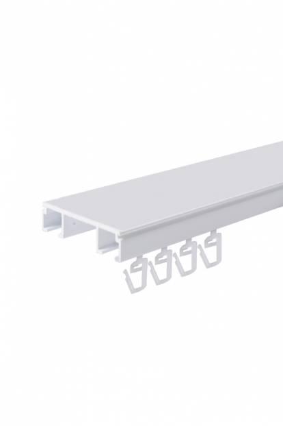 двуканален алуминиев корниз за таван - 150см