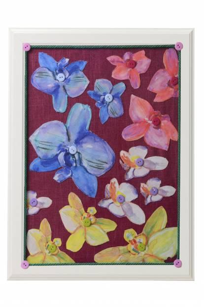 """Картина от интериорен текстил """"Орхидеи"""", 40х50 см"""