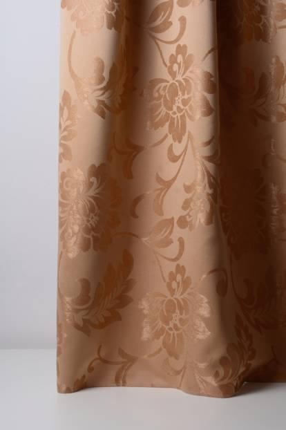 Плътна завеса в кафяво с цветя