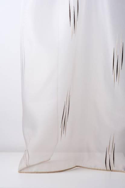 Ефирно прозрачно перде от полиестер с фигура