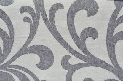 Плътна мека завеса с фигури, основа сиво и тъмносиви фигури, 14183/7143