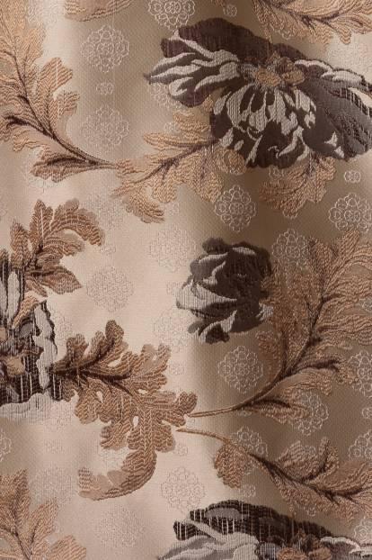 Плътна завеса с цветя в бежово, 115874/102
