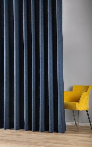 Плътна завеса с ленена текстура