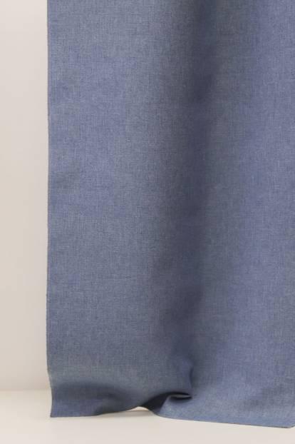 Завеса с блекаут гръб и лице с ленена текстура