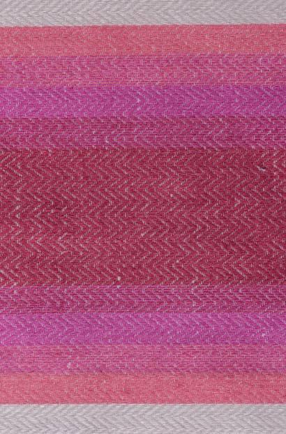 Ленена завеса с цветни вертикални райета