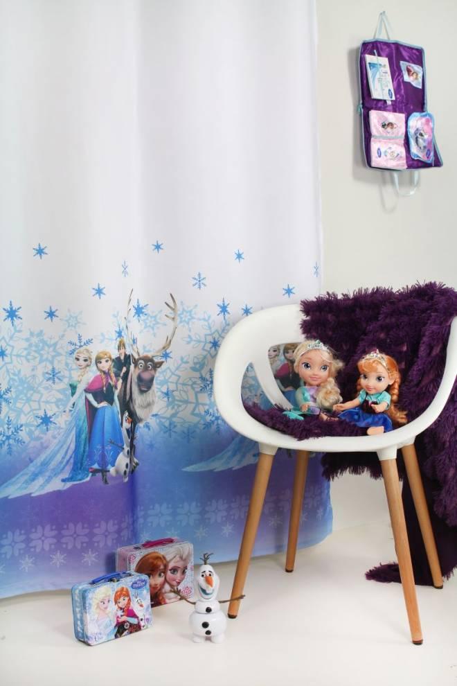 Детска плътна завеса с герои от Леденото кралство