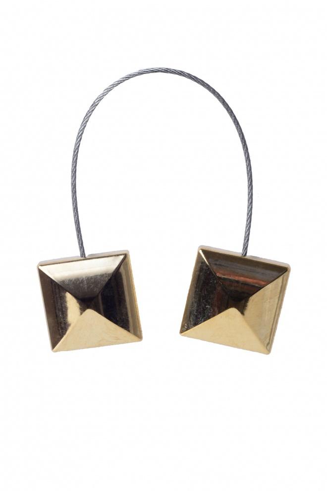 Квадратен златен магнит за завеса