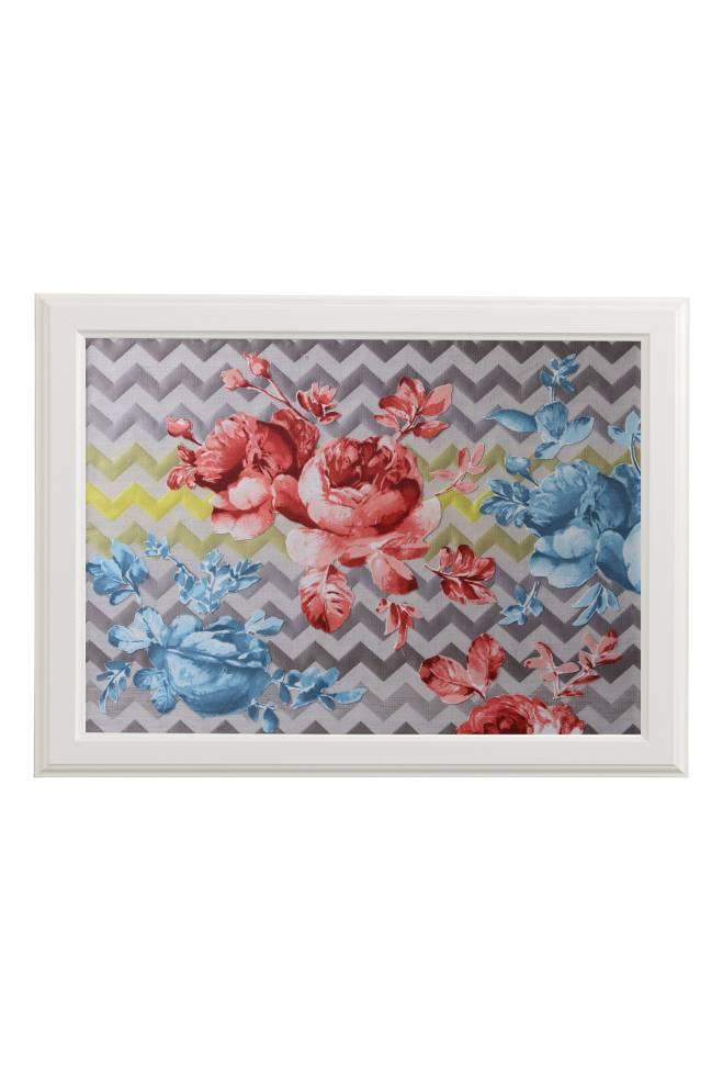 """Картина от интериорен текстил """"Божури"""", 40х50 см"""