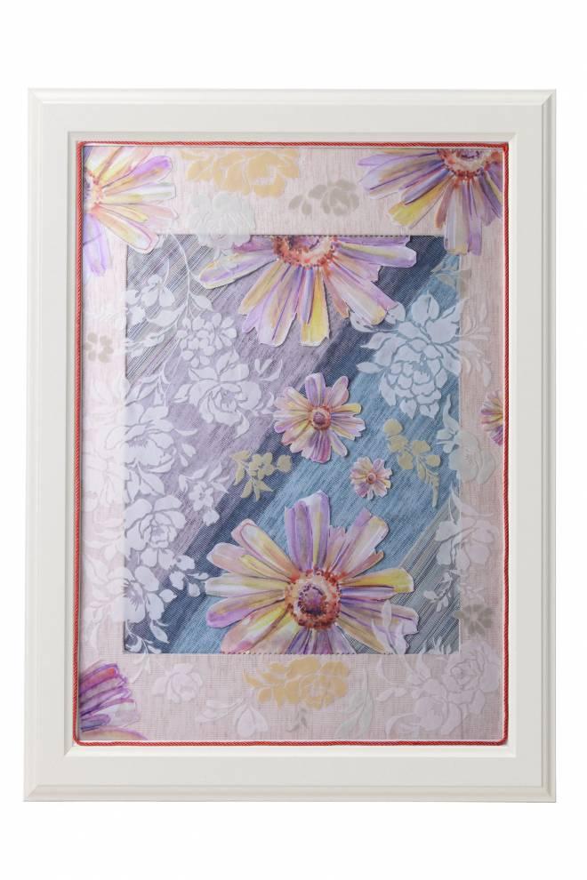 """Картина от интериорен текстил """"Слънчогледи"""" 50х70 см"""