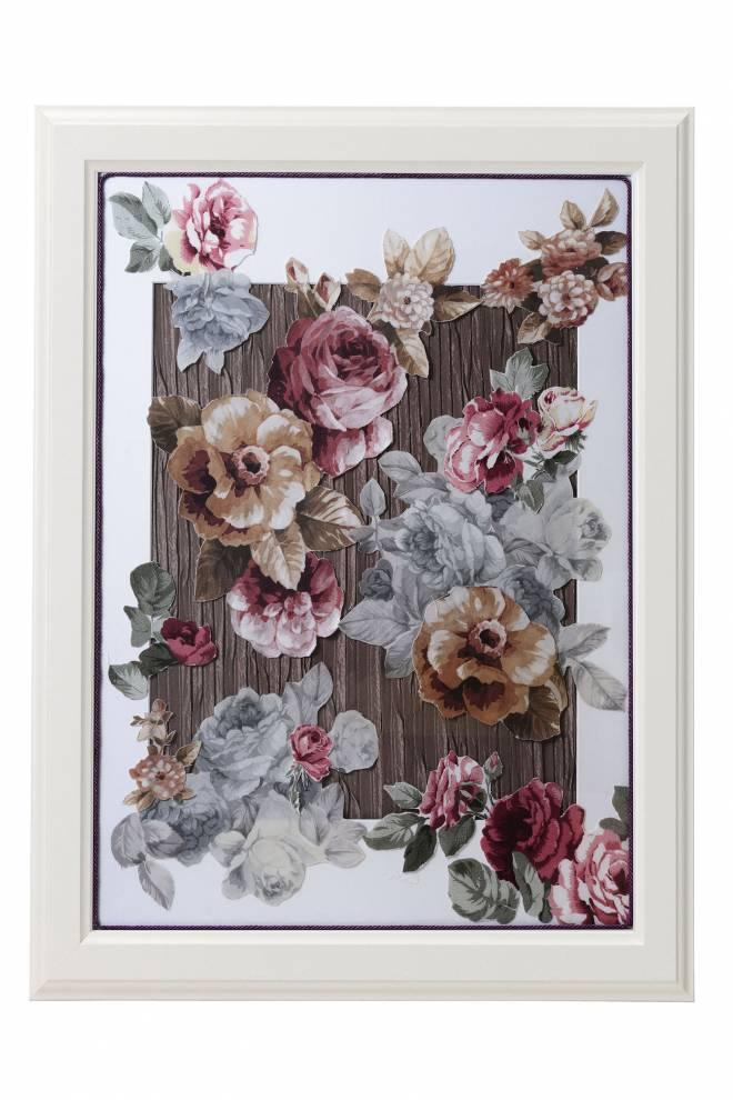"""Картина от интериорен текстил """"Градината от рози"""", 50х70 см"""