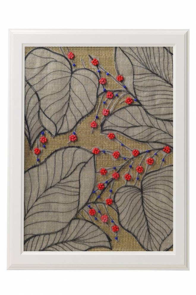 "Картина от интериорен текстил ""Боровинки"", 40х50 см"