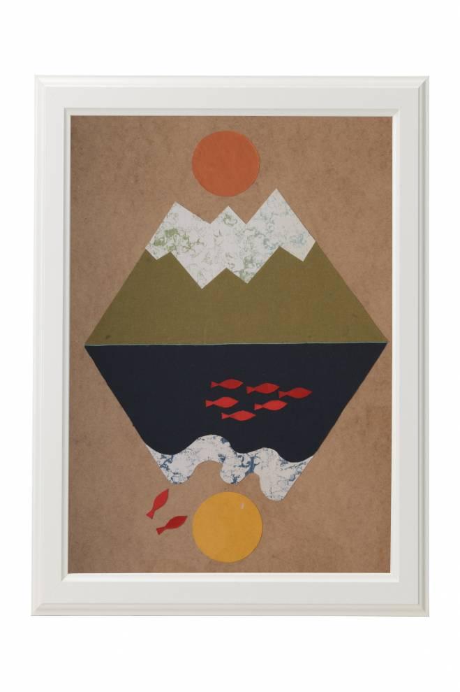"""Картина от интериорен текстил """"Ин-Ян"""", 50х70 см"""