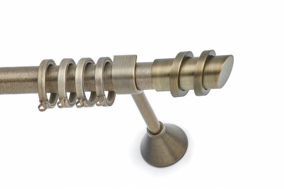 Тръбен корниз с декоративен завършек Ø 25