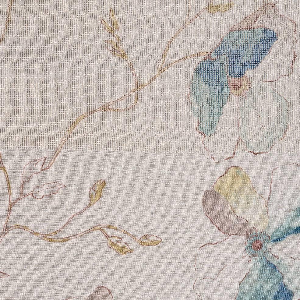 Полупрозрачно перде с едри цветя