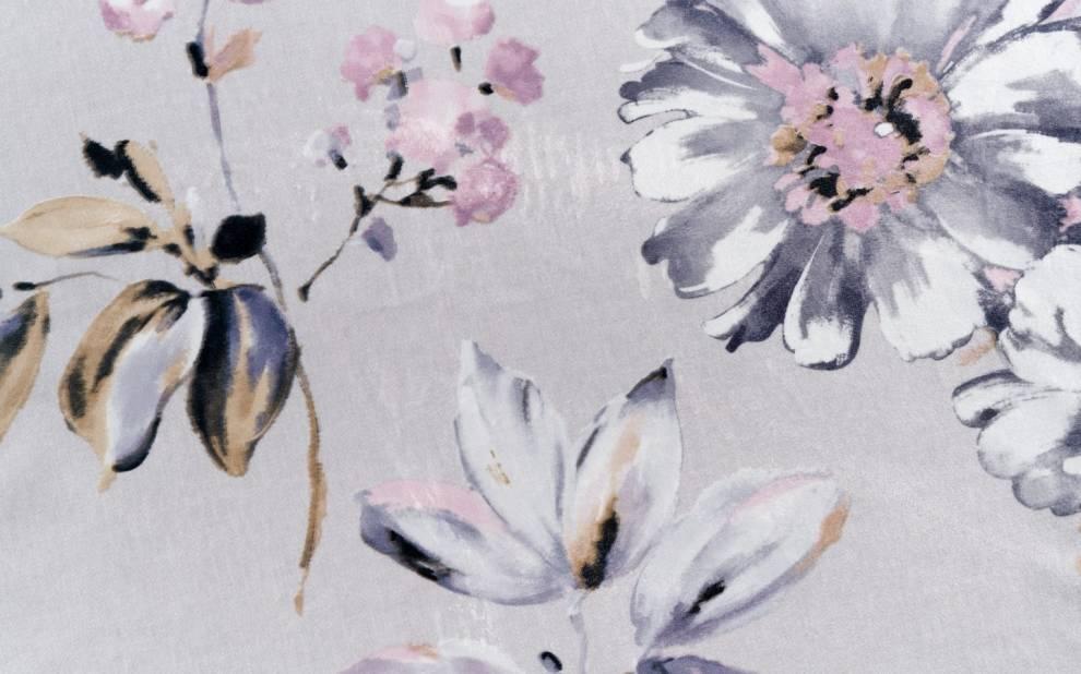 Плътна мека завеса с цветя
