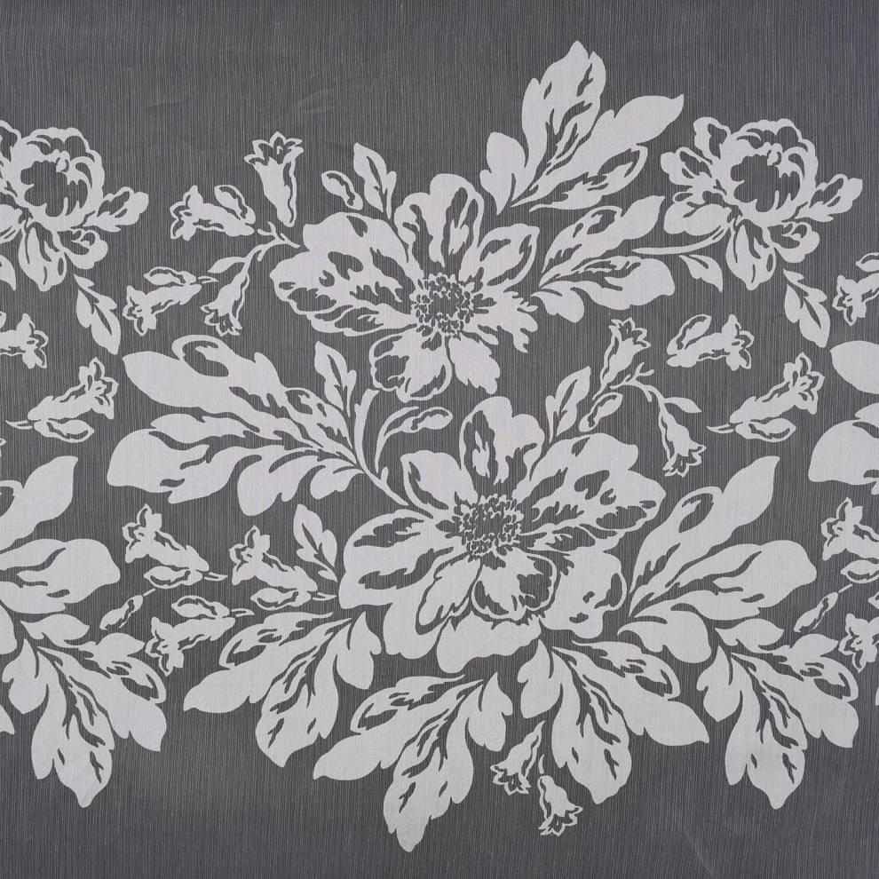 Полупрозрачно перде с кант от цветя