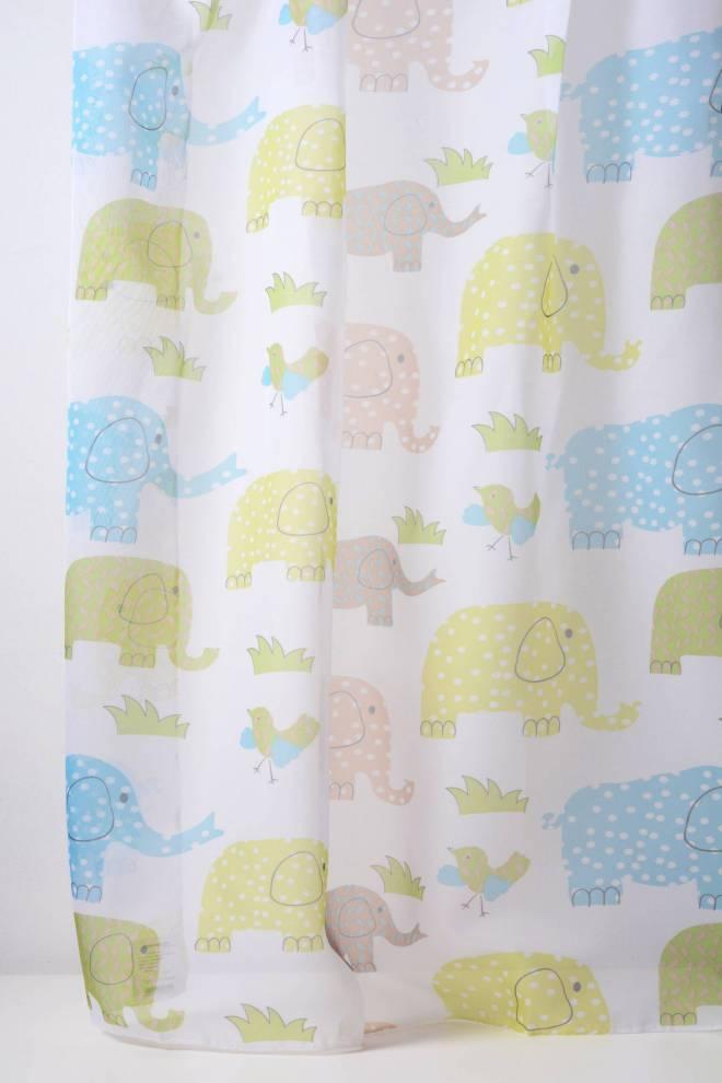 Детско перде със слончета