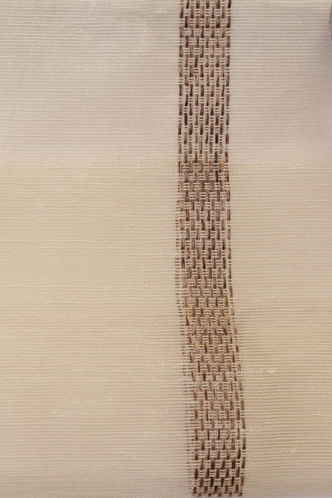 Полупрозрачно перде с вертикални вшити райета