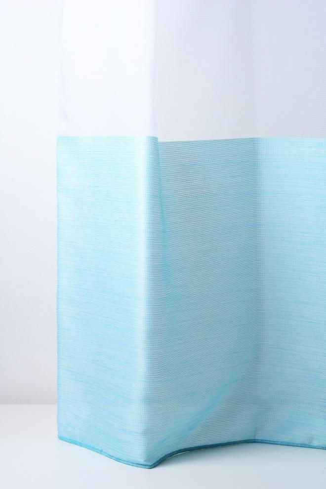 Прозрачно перде от полиестер с редуваща се шарка