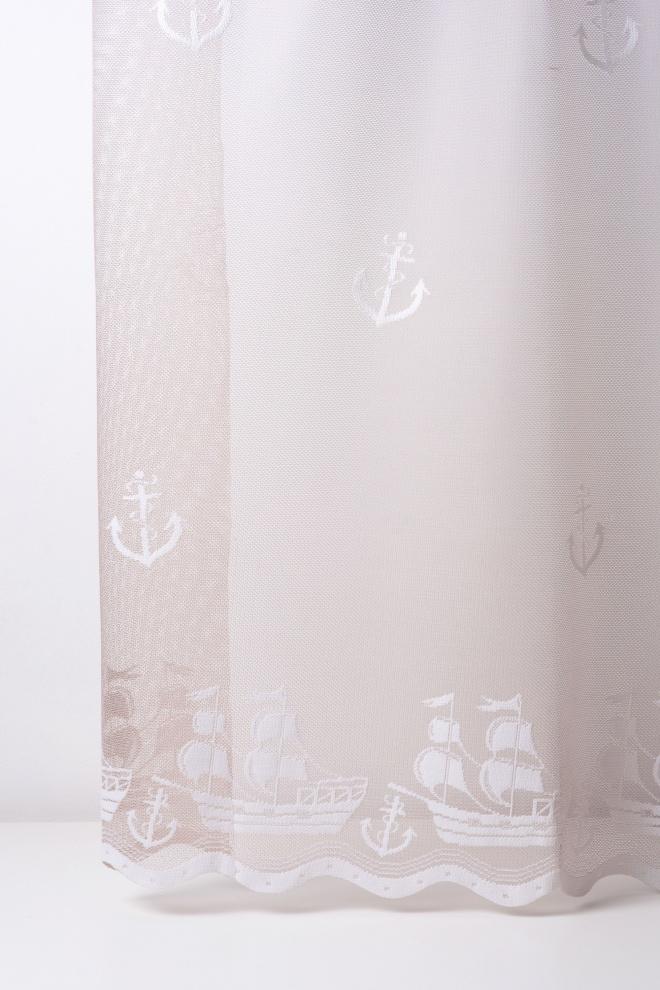 Мрежа с морски десен на котви и кораби