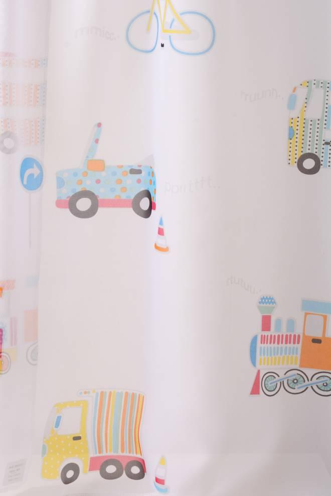 Детски воал за момченце с коли, колела и камиони