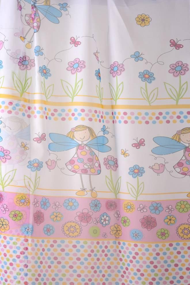 Детски воал за момиченце с точки, цветя и пеперуди