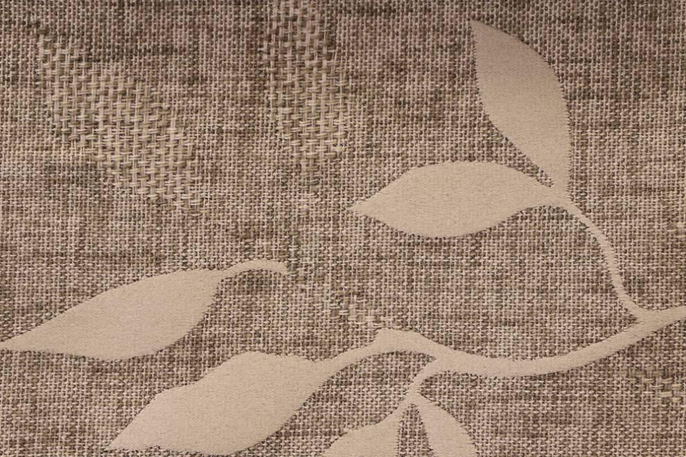 Плътна завеса с текстура и листа