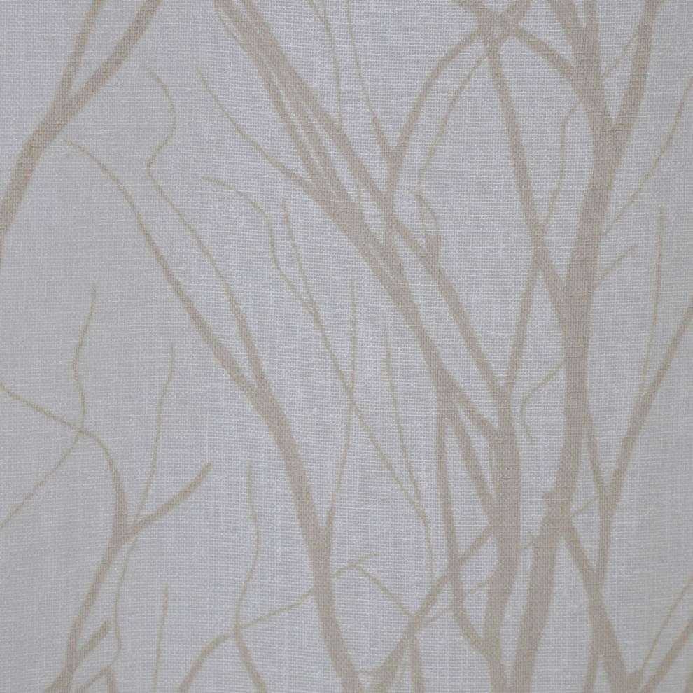 Полупрозрачно перде с ленена текстура и фигури