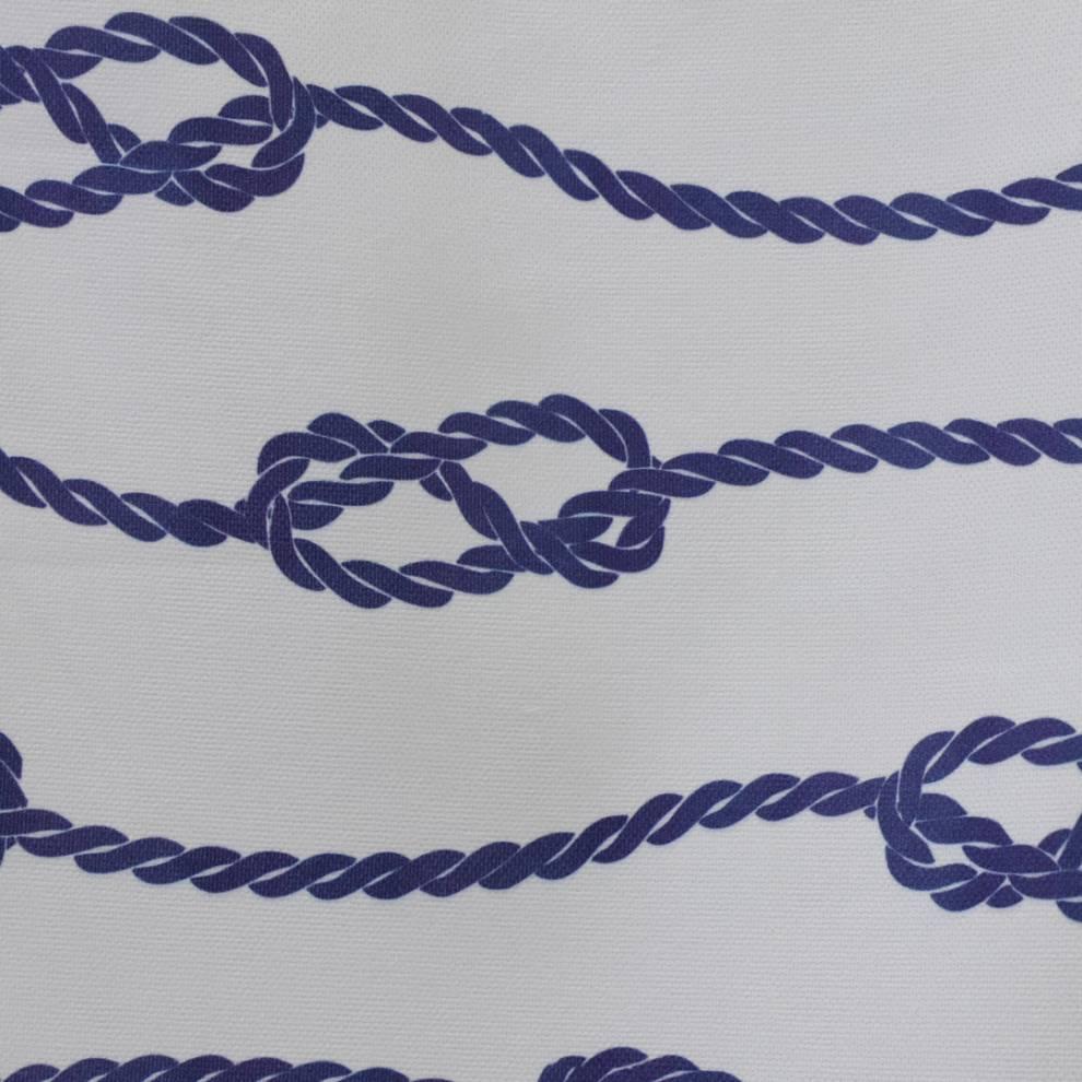 Плътна завеса с шарка, морски възел