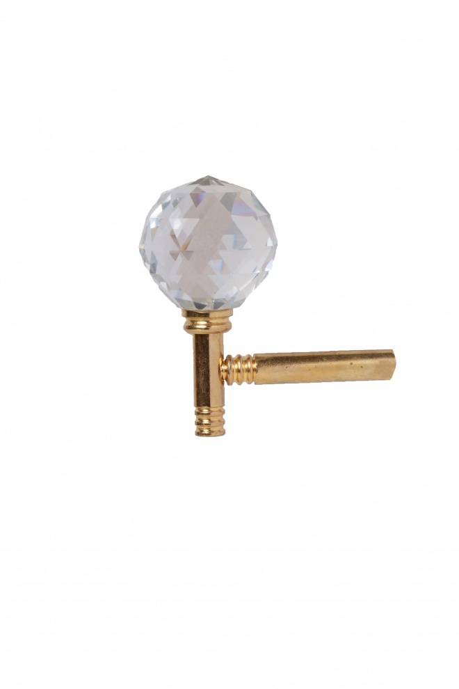 Държач за завеса тип кука - голям кристал