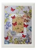 "Картина от интериорен текстил ""Пеперуди в полет"", 40х50 см"