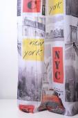 Полупрозрачно с щампа на Ню Йорк